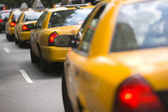 City cabs — Stock Photo