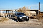 Rolls Royce parked on roadside — Stock Photo