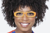 African American woman wearing glasses — Stock Photo