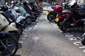 Motor bikes parked — Stock Photo