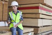 Weibliche industriearbeiter — Stockfoto