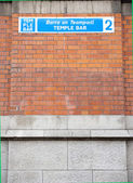 Temple Bar Sign in Dublin — Stock Photo