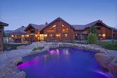 Ranch home exterior — Stock Photo