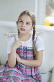 Girl thinking — Stock Photo