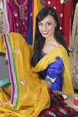 Indian female dressmaker — Stock Photo