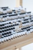 Vials in stand — Stock Photo