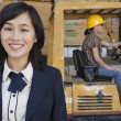 Woman with female industrial worker — Stock Photo #33991291