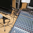 Microphone and sound mixing equipment — Stock Photo