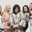 Постер, плакат: Playboy with beautiful women