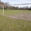 Stock Photo: Soccer goal in morning