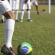 Soccer Players Preparing for a Penalty Kick — Foto de Stock