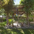 Stock Photo: Peaceful garden with canopy