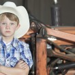 Boy wearing cowboy hat — Stock Photo #33996753
