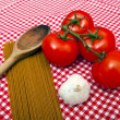 Spaghetti, Garlic and Tomato — Stock Photo