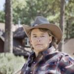 Mature man wearing cowboy hat — Stock Photo #33998515