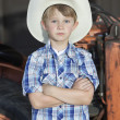 Little boy wearing cowboy hat — Stock Photo #33999837