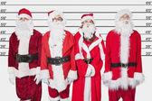 People in Santa costume — Stock Photo