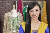 Beautiful Indian female dressmaker — Stockfoto