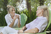 Woman and mother having a quality time — Stock Photo