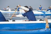 Outrigger canoeing teams compete — Stock Photo