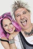 Senior punk couple — ストック写真