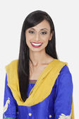 Indian woman in traditional wear smiling — Stock Photo