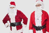 Men in Santa costume — Stock Photo