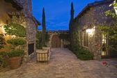 Paved courtyard exterior — Stockfoto
