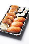 Sushi food on tray — Fotografia Stock