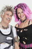 Senior punk couple — Stock Photo