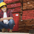 Asian female industrial worker — Stock Photo #34000857