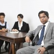 Asian male with female colleagues — Stock Photo #34001963