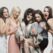Постер, плакат: Playboy amid happy women