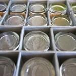 Glasses in storage box — Stock Photo