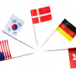 National flags of different countries — Stock Photo