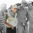 Young friends at golf course — Stock Photo #34006915