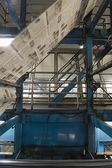 Newspaper production and printing process — Stock Photo