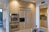 Kitchen wit steel appliance — Foto de Stock