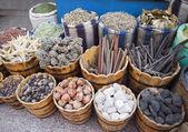 Souvenirs on street market — Stock Photo