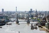 Tower Bridge and St Pauls — Stock Photo