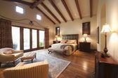 Grande chambre avec poutres haute — Photo