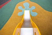 Down to ground from top of slide — Stock Photo