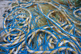 Fishing nets and ropes — Stock Photo
