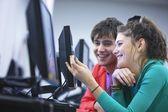 University students using computers — Stock Photo