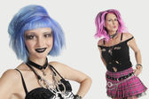 Young and senior female punks — Stock Photo
