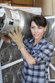 Trabajadora industrial — Foto de Stock
