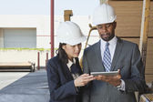 Multiethnic contractors — Stock Photo