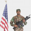 US Marine Corps soldier with M4 assault rifle — Stock Photo #34010381