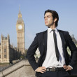 Businessman against Big Ben — Stock Photo