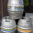Stock Photo: Empty metal kegs